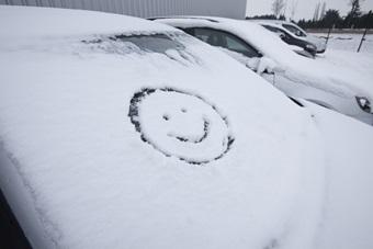 Dégivrer les vitres de voiture